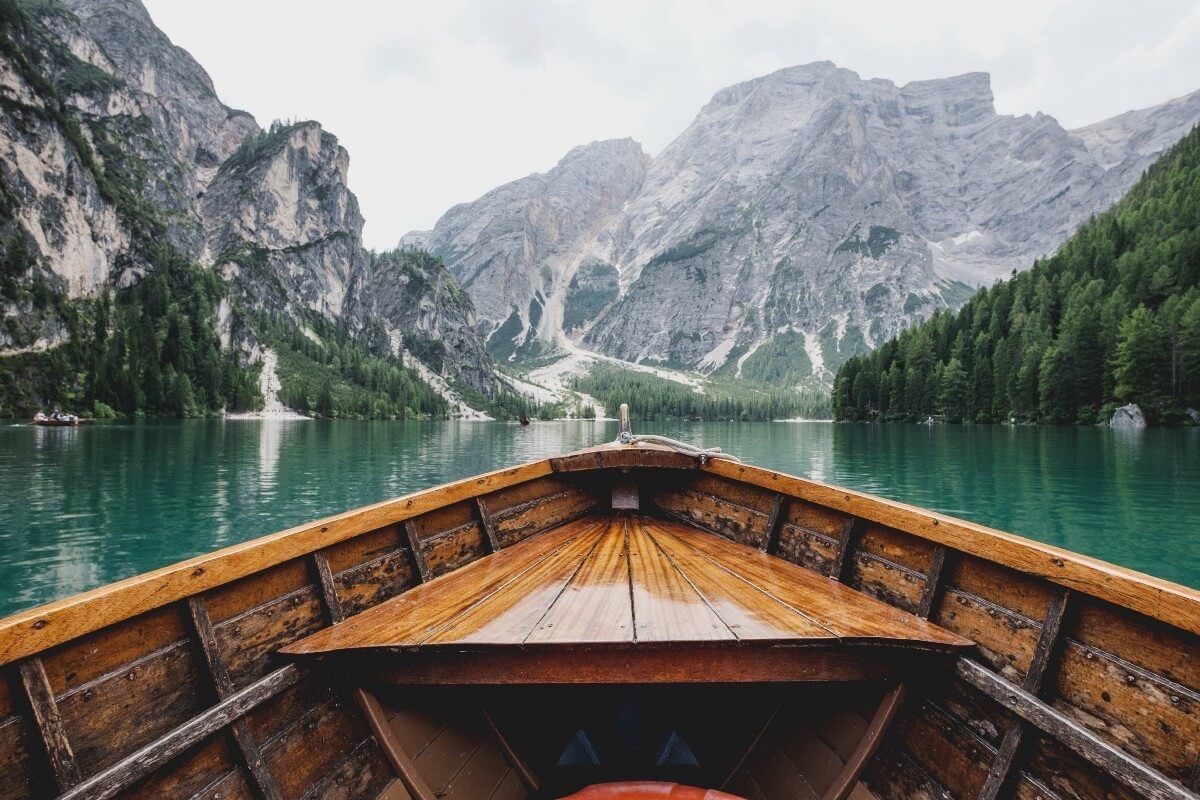 brown wooden boat
